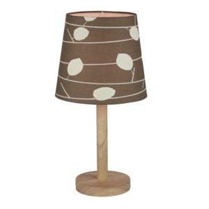 Produkt Stolná lampa, drevo/látka vzor listy, QENNY TYP 6 LT6026