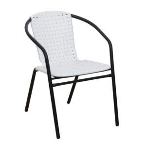 Produkt Záhradná stolička, biela/čierna, BERGOLA