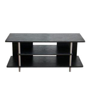 Produkt TV stolík, čierna/strieborná, QUIDO