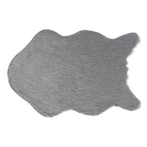Produkt Umelá kožušina, sivá/strieborná, 60×90, FOX TYP 2