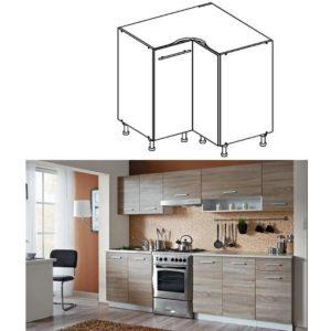 Produkt Dolná rohová skrinka, dub sonoma/biela, CYRA NEW DN-90