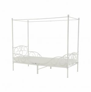 Produkt Kovová posteľ s nebesami, biela, 90×200, ADELISA