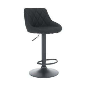 Produkt Barová stolička, látka čierna/čierna, TERKAN