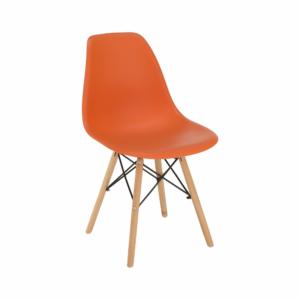 Produkt Stolička, oranžová/buk, CINKLA 3 NEW