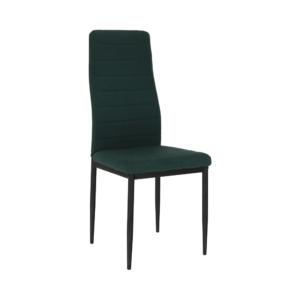 Produkt Stolička, smaragdová látka/čierny kov, COLETA NOVA