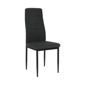 Produkt Stolička, tmavosivá látka/čierny kov, COLETA NOVA