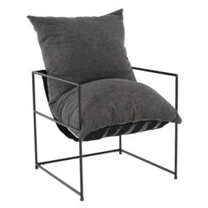 Produkt Moderné kreslo, sivá/čierna, DEKER