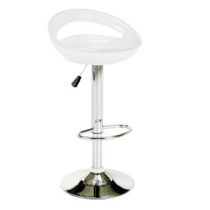Produkt Barová stolička, biela/chróm, DONGO NOVE