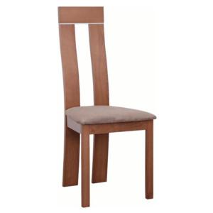 Produkt Drevená stolička, čerešňa/látka hnedá, DESI