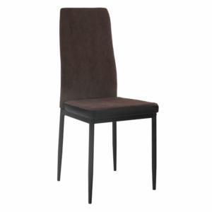 Produkt Jedálenská stolička, tmavohnedá/čierna, ENRA