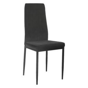 Produkt Jedálenská stolička, tmavosivá/čierna, ENRA