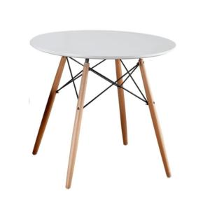 Produkt Jedálenský stôl,  biela/buk, GAMIN NEW 80