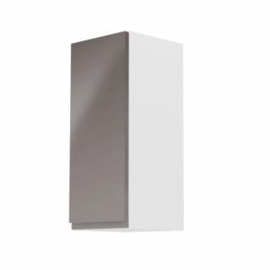 Produkt Horná skrinka, biela/sivý extra vysoký lesk, ľavá, AURORA G30