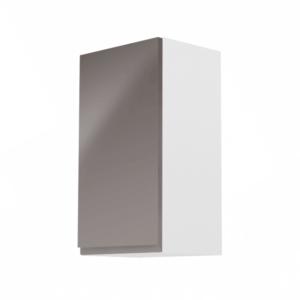 Produkt Horná skrinka, biela/sivý extra vysoký lesk, ľavá, AURORA G40