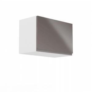 Produkt Horná skrinka, biela/sivý extra vysoký lesk, AURORA G60K