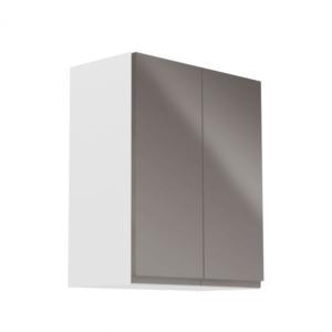 Produkt Horná skrinka, biela/sivý extra vysoký lesk, AURORA G602F