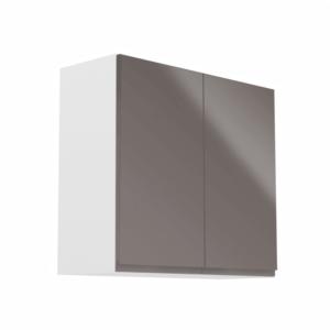 Produkt Horná skrinka, biela/sivý extra vysoký lesk, AURORA G80