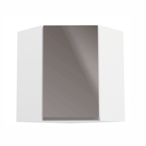 Produkt Horná skrinka, biela/sivý extra vysoký lesk, AURORA G60N