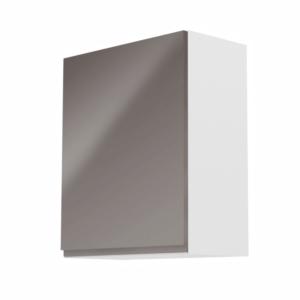 Produkt Horná skrinka, biela/sivý extra vysoký lesk, ľavá, AURORA G601F