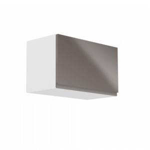 Produkt Horná skrinka, biela/sivý extra vysoký lesk, AURORA G60KN