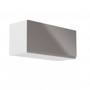 Produkt Horná skrinka, biela/sivý extra vysoký lesk, AURORA G80K