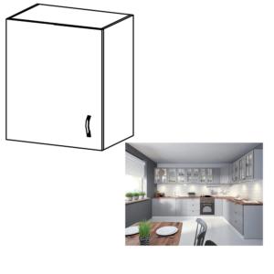 Produkt Horná skrinka, biela/sivá matná, ľavá, LAYLA G601F