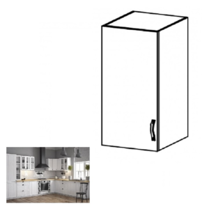 Produkt Horná skrinka G30, ľavá, biela/sosna andersen, PROVANCE