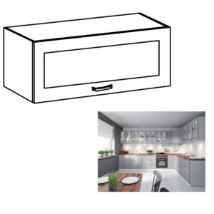 Produkt Horná skrinka, biela/sivá matná, LAYLA G80KS