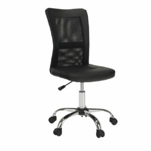 Produkt Kancelárske kreslo, čierna/chróm, IDOR NEW