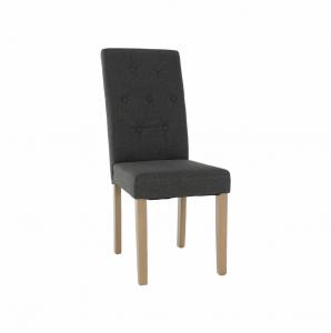 Produkt Jedálenská stolička, sivá/svetlý buk, JANIRA NEW