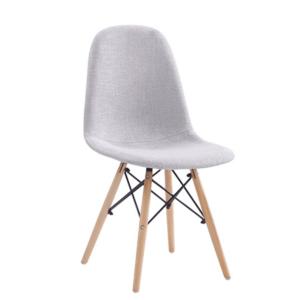 Produkt Jedálenská stolička, svetlosivá, DARELA NEW