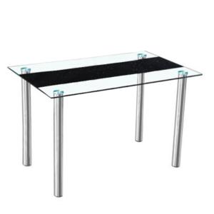 Produkt Jedálenský stôl, oceľ/sklo, ESTER