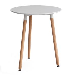 Produkt Jedálenský stôl, biela/buk, ELCAN 60