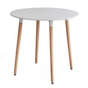 Produkt Jedálenský stôl, biela/buk, ELCAN 80
