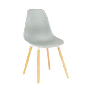 Produkt Stolička, studená sivá plast/buk, KALISA