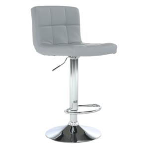 Produkt Barová stolička, ekokoža sivá/chróm, KANDY NEW