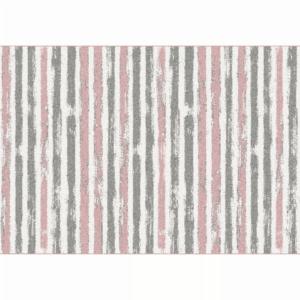 Produkt Koberec, ružová/sivá/biela, 57×90, KARAN
