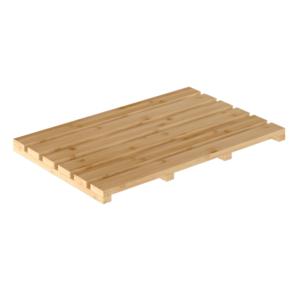 Produkt Protišmyková predložka do kúpeľne, prírodný lakovaný bambus, KLERA