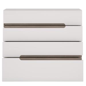 Produkt Komoda, biela extra vysoký lesk HG/dub sonoma tmavý truflový, LYNATET TYP 44
