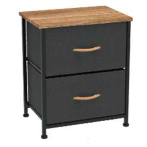 Produkt Komoda/nočný stolík s látkovými šuplíkmi, čierna/červený javor, KESIDY TYP 1
