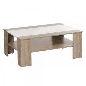 Produkt Konferenčný stolík, dub sonoma/biela extra vysoký lesk HG, ARIADNA