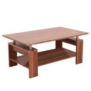 Produkt Konferenčný stolík, svetlý orech/strieborná, ROKO