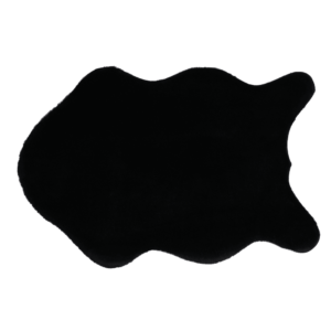 Produkt Umelá kožušina, čierna, 60×90, RABIT NEW TYP 1
