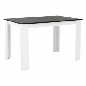 Produkt Jedálenský stôl, biela/čierna, 120×80, KRAZ