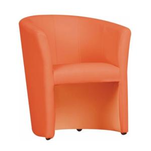 Produkt Klubové kreslo, ekokoža oranžová, CUBA