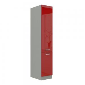 Produkt Skrinka potravinová vysoká, červený vysoký lesk, PRADO 40 DK-210 2F