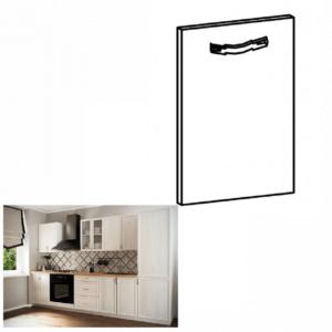 Produkt Dvierka na vstavanú umývačku riadu, 59, 6×71, 3, sosna Andersen, SICILIA