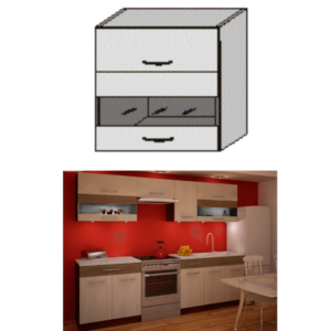 Produkt Horná skrinka, rigolletto light/rigolletto dark/wenge, JURA NEW IA GW1-80