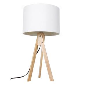 Produkt Stolná lampa, biela/prírodné drevo, LILA TYP 1 LS2002