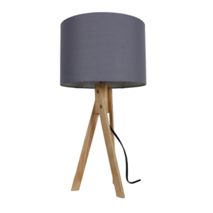 Produkt Stolná lampa, sivá/prírodné drevo, LILA TYP 2 LS2002